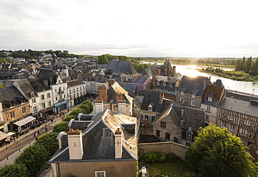 Townscape of Amboise in Loire Valley, France
