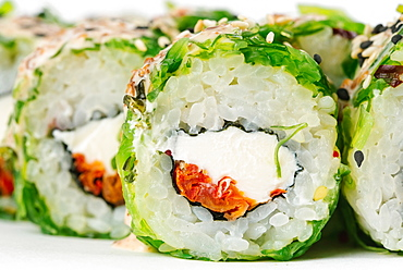 Sushi with seaweed and cream cheese