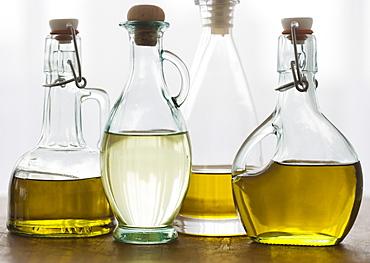 Assorted bottles of oil