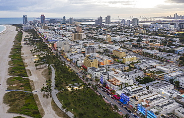 Cityscape of South Beach in Miami, USA