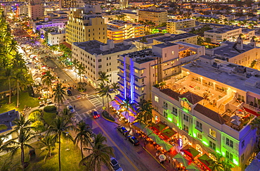 Cityscape at sunset of South Beach in Miami, USA