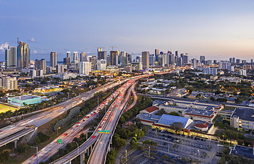 Highway bridges in Miami, USA