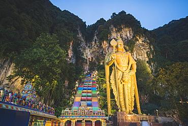 Statue of Lord Murugan outside Batu Caves in Malaysia