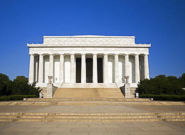 Lincoln Memorial facade Washington DC USA