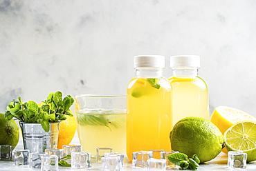 Lemonade with ingredients