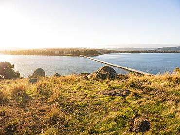 Bridge from Granite Island, Australia