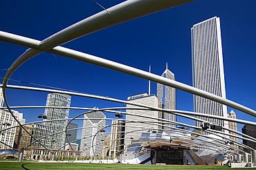 Pritzker Pavilion in Millennium Park Chicago Illinois USA