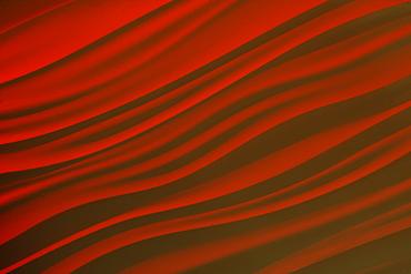 Rippled red fabric
