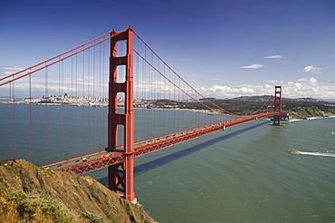 Panorama of Golden Gate Bridge San Francisco California USA