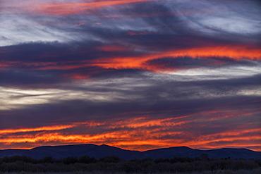 Sunset over Boise Foothills in Boise, Idaho, United States of America