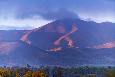 Mountains under cloud in Picabo, Idaho, United States of America
