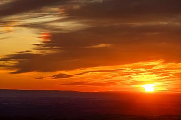 Sunset over Boise Foothills