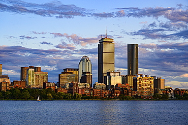City skyline at sunset in Boston, Massachusetts, United States of America