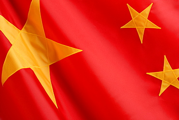 Close up of flag of China