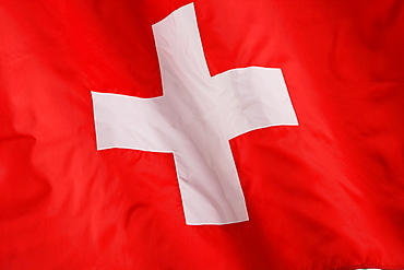 Close up of flag of Switzerland