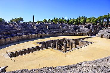 Roman ruins of Italica in Santiponce, Spain