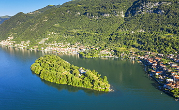 Isola Comacina island in Lake Como in Lombardy, Italy