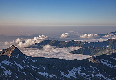 Mountains in cloud in Italian Alps, Italy