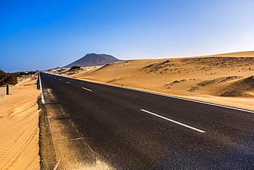Africa, Empty road in desert