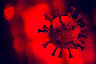 Digitally generated image of Coronavirus