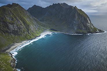 Kvalvika beach in Lofoten Islands, Norway