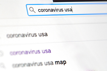 Internet search for 'coronavirus'