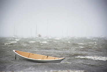 Rowboat on sea