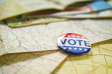Vote button on map