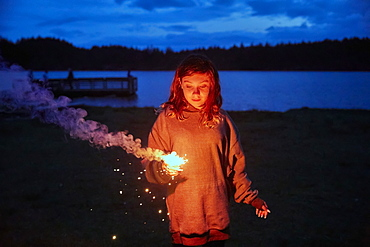 Girl with sparkler