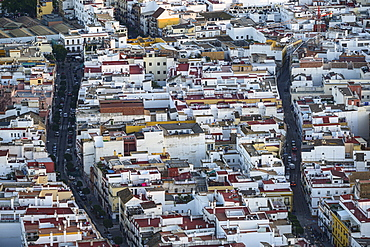 Spain, Seville, Triana, High angle view of Triana neighborhood