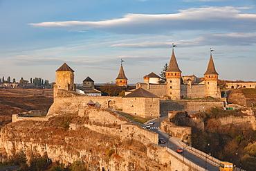 Ukraine, Oblast, Kamianets Podilskyi, Exterior of Kamianets-Podilskyi Castle