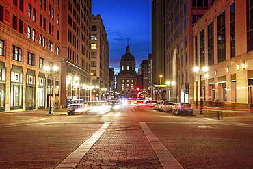 Indianapolis, Indiana, USA, Indiana State Capitol at night