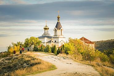 Moldova, Orhei, Trebujeni Rejon, Monastery on hill
