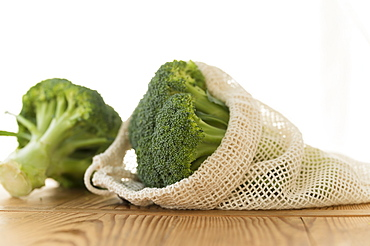 Broccoli in reusable produce bag