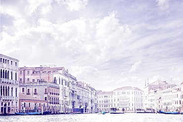 Italy, Venice, Buildings along Grand Canal