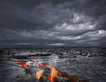 USA, Hawaii, Lava in volcanic rock