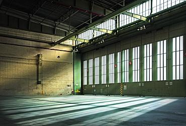 Germany, Berlin, Interior of abandoned Tempelhof Airport