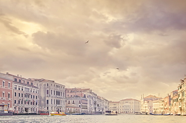 Italy, Venice, Storm clouds above Grand Canal