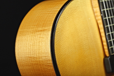 Close up of classical guitar