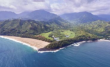 USA, Hawaii, Kauai, Aerial view of Na Pali Coast