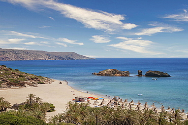 Greece, Crete, Vai, Beach and sea