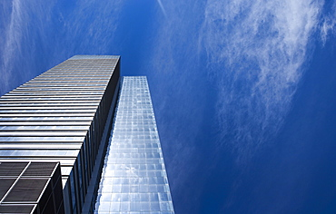 Modern office building and blue sky