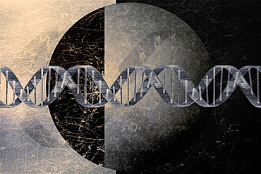 DNA helix on abstract background