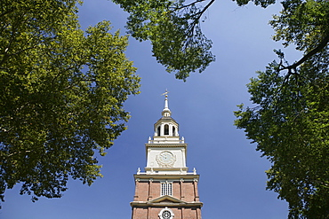 Independence Hall Tower in Philadelphia PA