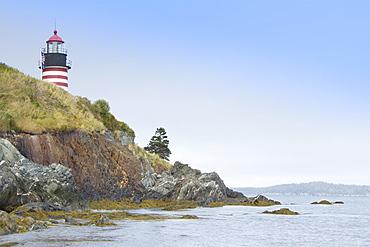 USA, Maine, Lubec, West Quoddy Head Lighthouse