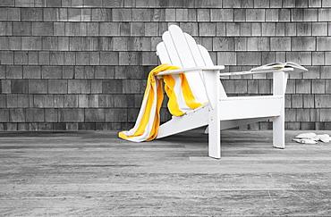 Adirondack chair on porch