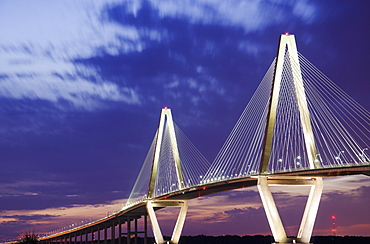 USA, South Carolina, Charleston, Arthur J Ravenel Jr Bridge