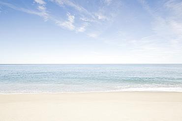 Sandy beach with ocean