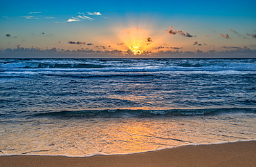 United States, Florida, Boca Raton, Beach and sea at sunset