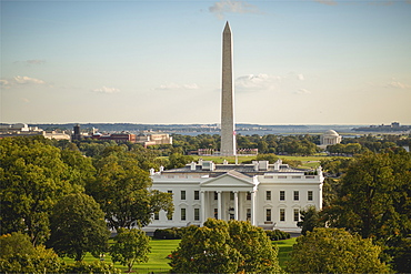 United States, White House with Washington Monument behind